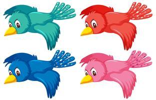 Eine Reihe von fliegenden Vogel