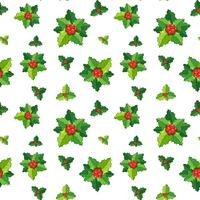 Seamless background template with mistletoes
