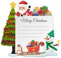 Buon concetto di lista di Natale