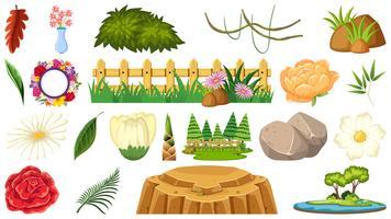 Set di oggetti ornamentali