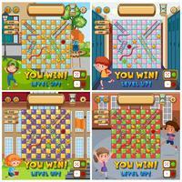 Set of snake ladder board game