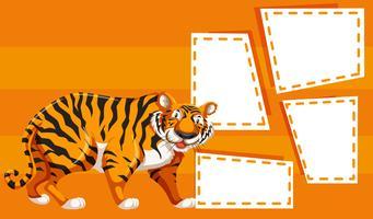 En tiger på anteckningsmall