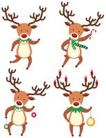 Reindeer in christmas costume