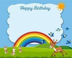 Animals in nature birthday template