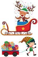 Rentier und Elf für Weihnachten