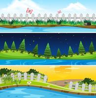 Set di scena della natura
