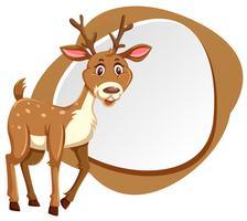 cute deer with splash frame