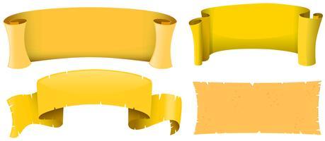 Banderolldesign i gul färg