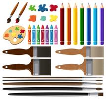 Set of painting tools vector