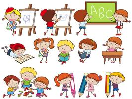 A Set of Student at School vector