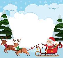 Modèle de fond avec Père Noël en traineau