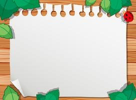 A wooden nature border vector