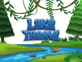 Lake thema natuur scène