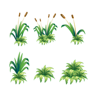 Weeds and Plants vector