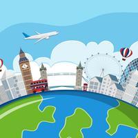 London Sehenswürdigkeiten Planet Konzept