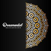 Arabic ornament background baroque in Victorian style. Element f