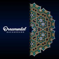 Arabic ornament background baroque in Victorian style. Element for design vector