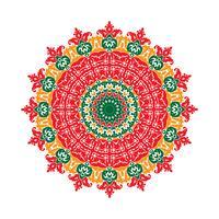 Mandala Ornament Hintergrund. Runde Vintage dekorative Elemente.