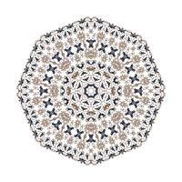 fond d'ornement de mandala. Éléments de décoration vintage ronds.