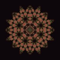 mandala Ornament background. Round Vintage decorative elements.