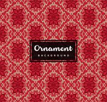 Fondo ornamentale decorativo senza cuciture con colore rosso