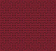 Seamless linear pattern with crossing curved lines and scrolls o