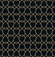 Vector patrón geométrico moderno azulejos. forma forrada de oro. Resumen