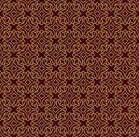 Seamless linear pattern with crossing curved lines and scrolls o vector