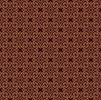 Sömlöst linjärt mönster med korsade böjda linjer och rullar o