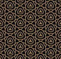 Modèle sans couture abstraite. Ornement de lignes géométriques en or. Ornamen