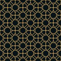 Vector modern geometric tiles pattern. golden lined shape. Abstr