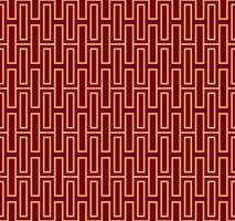 Ornement vectorielle continue. Moderne linéaire géométrique chic