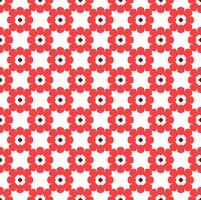 Floral Tiles Seamless Vector Pattern.flower Geometric texture pa