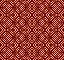 Ornement vectorielle continue. Motif linéaire géométrique élégant moderne avec couleur dorée