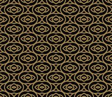 Patrón abstracto sin fisuras Línea geométrica de adorno de oro. Ornamen
