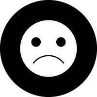 Vector Sad Emoji ícone