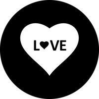 Icona di amore cuore vettoriale