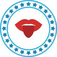 Vector icono de la lengua