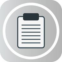 Icona della scheda di clip di vettore