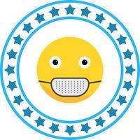 Vektor Medicinsk Mask Emoji Ikon