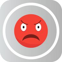 Vector Angry Emoji Icon