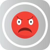 Vektor Wütend Emoji-Symbol