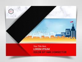 Stampa modello pubblicitario pronto, formato A4 per presentazione aziendale di marketing.