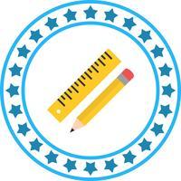 Vector icono de lápiz y regla