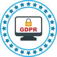 Vektor GDPR Säkerhetslås Skärm Ikon