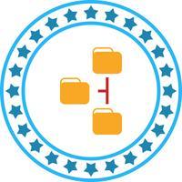 Vector icono de directorios
