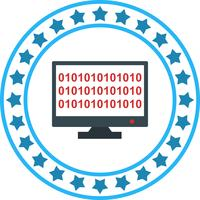 Vector Binary code online Icon