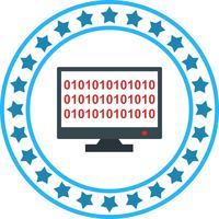 Vector Binary code on-line ícone