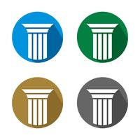 Logotipo da coluna para o projeto da ilustração da empresa do advogado. Vetor eps 10