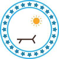 Icona di Sunny Beach vettoriale